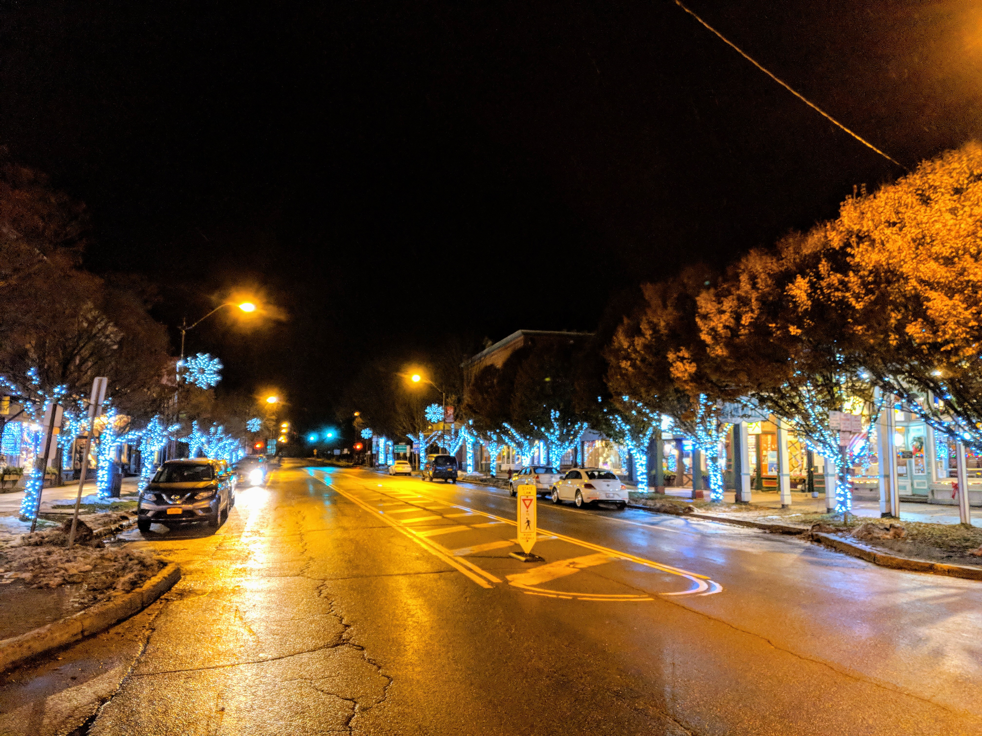 Village winter lights